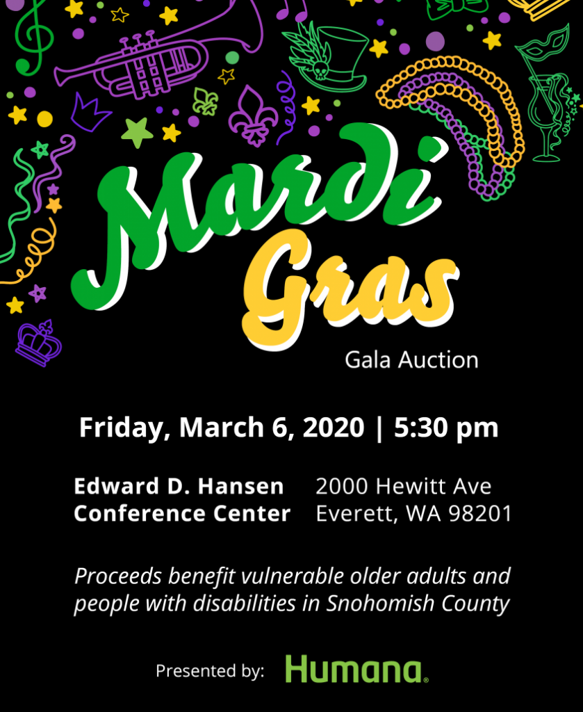 Mardi Gras Gala Auction, Friday March 6, 2020 at 5:30 pm